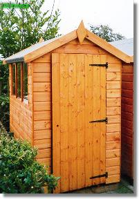 6X4 Shed  BRAMLEY Apex Total Cost Includes Delivery and Erection